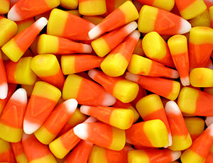 English: Candy corn, specifically Brach's cand...