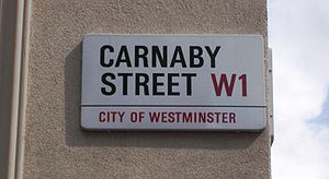Carnaby Street sign, London. Uploaded by photo...