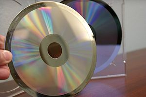Image of a metalized glass master used in cd r...