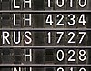 Old mechanical time table at Frankfurt's airport.