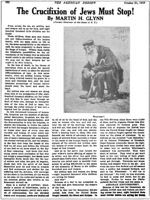 Article from The American Hebrew, October 31 1939
