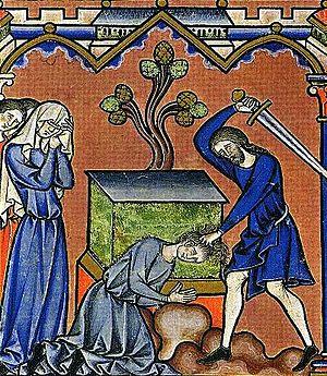 Jephthah's sacrifice - Maciejowski Bible