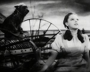 Screenshot of Judy Garland performing Over the...