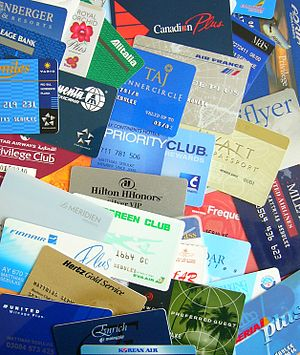 Different customer loyality cards (airlines, c...