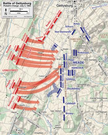 Gettysburg College Map : gettysburg, college, Pickett's, Charge, Wikipedia