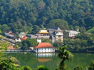The Temple of the Tooth in Kandy. This temple ...