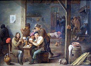 Tavern Scene-1658-David Teniers II