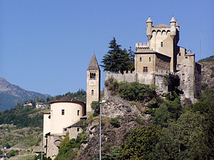 English: Castello di Saint-Pierre, Valle d'Aos...