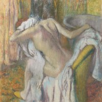 """After the Bath, Woman Drying Herself"" by Edgar Degas"
