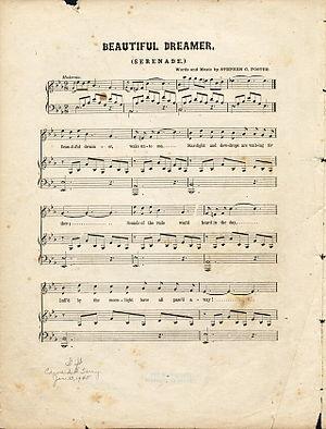 "Sheet music: ""Beauiful Dreamer"" by S..."