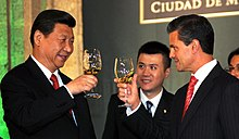 Peña Nieto with President of the People's Republic of China Xi Jinping.