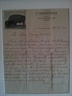Charles Goodnight  Wikipedia