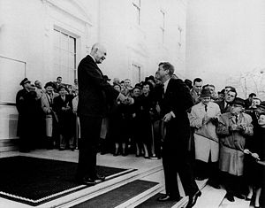 Eisenhower and President-elect John Fitzgerald...