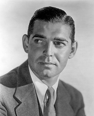 English: Studio publicity photo of Clark Gable.