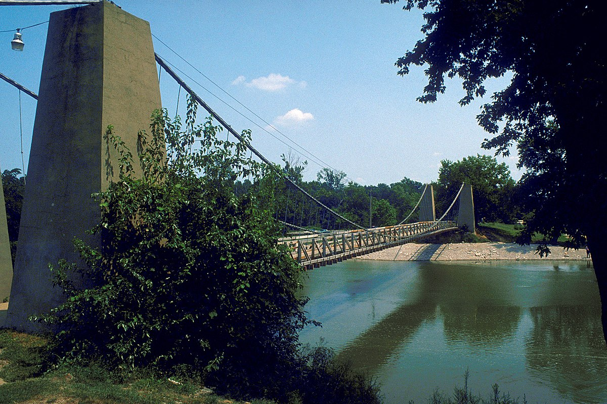 General Dean Suspension Bridge Wikipedia