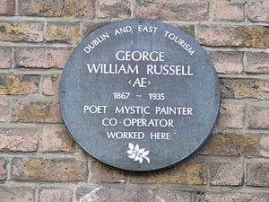 Image of George William Russell plaque on the ...