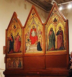 Painting of Giotto di Bondone Stefaneschi trip...