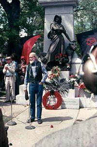 Conmemoración en 1986 en Chicago del centenario de la revuelta de Haymarket