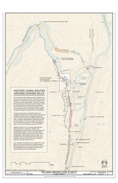 FileHistoric Canal Routes around Cohoes Falls  Erie