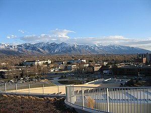 View of the Wasatch Range from the Salt Lake C...