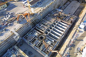 English: Air view of the LNG - Offshore Terminal