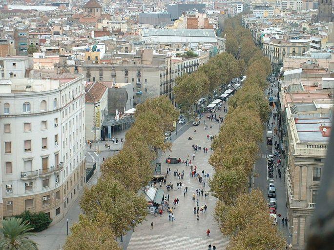La Rambla Barcelona 2004