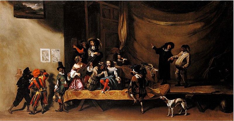 File:Michelangelo Cerquozzi - The Rehearsal, or A Scene from the Commedia dell'Arte.jpg