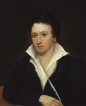 Percy Bysshe Shelley, by Alfred Clint (died 18...