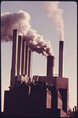 SMOKE FROM STACKS AT THE PHILLIPS POWER STATIO...