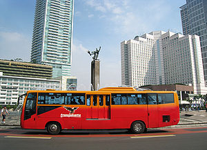 "English: TransJakarta Corridor I bus at ""..."