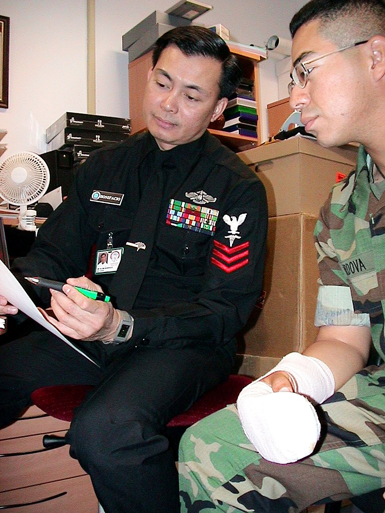 File US Navy 030403 N 9643K 001 Hospital Corpsman 1st