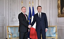 Macron with Russian President Vladimir Putin, 29 May 2017