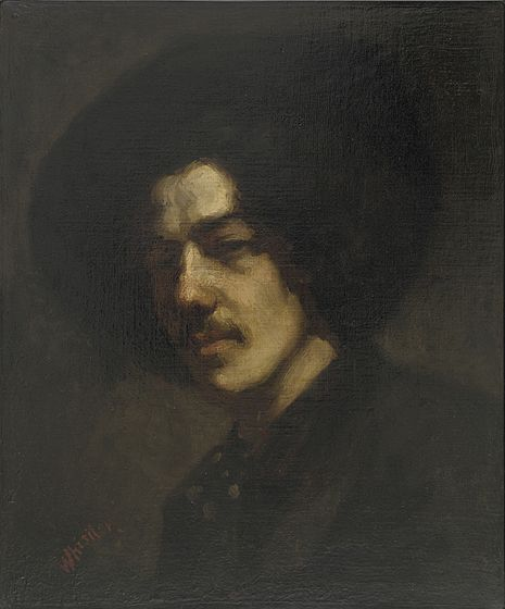 File:Whistler James Portrait of Whistler with Hat (1858).jpg