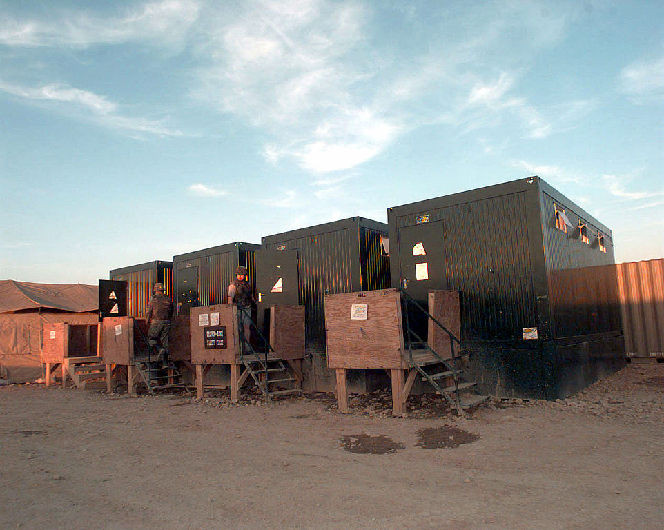 FileAbolution container latrines in Steel Castle Base