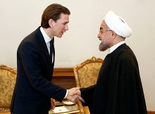 Kurz with Iranian President Hassan Rouhani, 28 April 2014