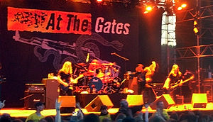 Swedish death metal band At the Gates performi...