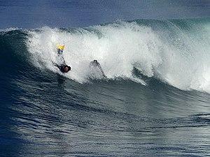 English: Bodysurfing in La Jolla California.