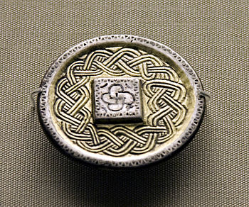 Merovingian brooch now in the British Museum. ...