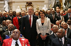 President George W. Bush and Speaker of the Ho...