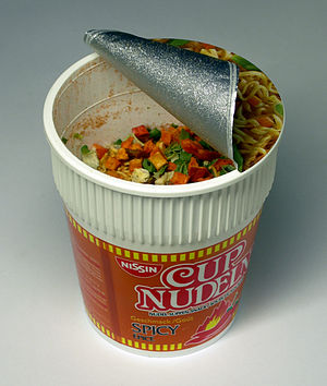 Nissin Cup Noddles before preparation
