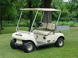A picture of a golf cart.
