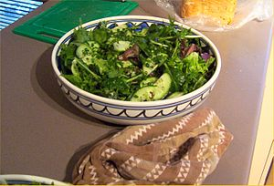 A picture taken, of A Green Salad.
