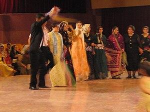 Kurdish dance during a wedding in Sanandaj, Iran.