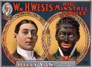 This reproduction of a 1900 minstrel show post...