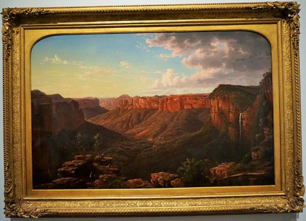 """National Gallery of Australia - Joy of Museums - """"Govett's Leap"""" by Eugene von Guerard"""