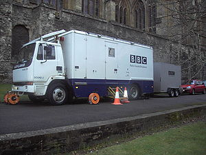 A BBC Radio outside broadcast van
