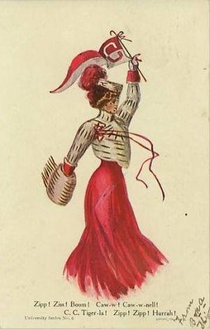 Postcard of CornellUniversityCheerleader1906 C...