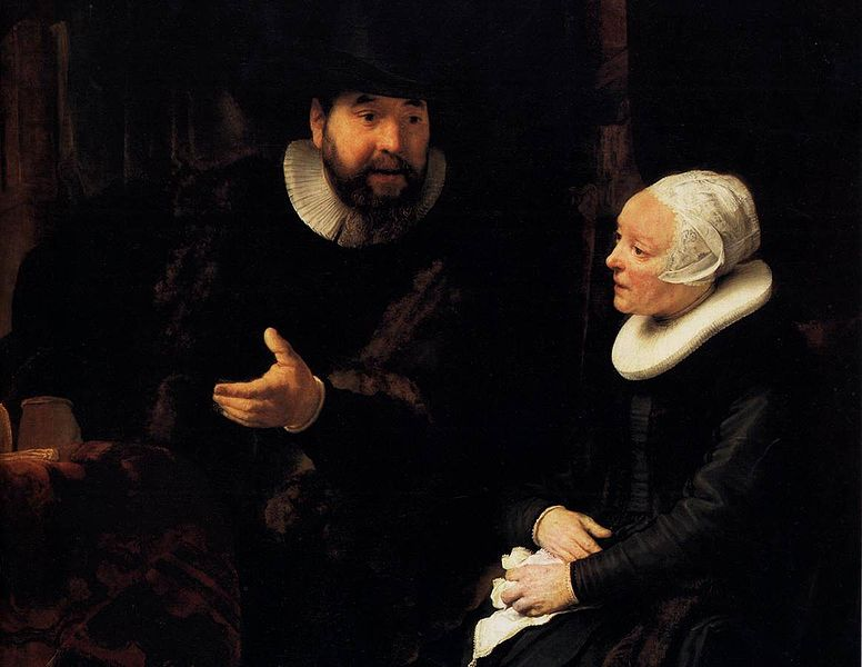 File:Rembrandt - The Mennonite Minister Cornelis Claesz. Anslo in Conversation with his Wife, Aaltje (detail) - WGA19143.jpg