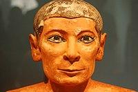 Escultura del 'escriba sentado'. Dinast�a V. Siglo XXV adC
