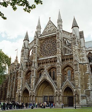 Westminster Abbey, London, northern portal